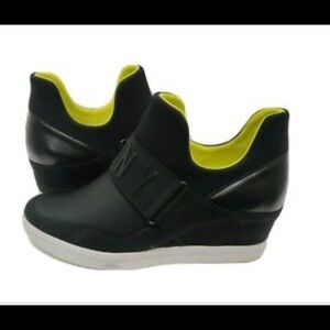 Womens DKNY Cosmos Slip On High Top Wedge Sneakers